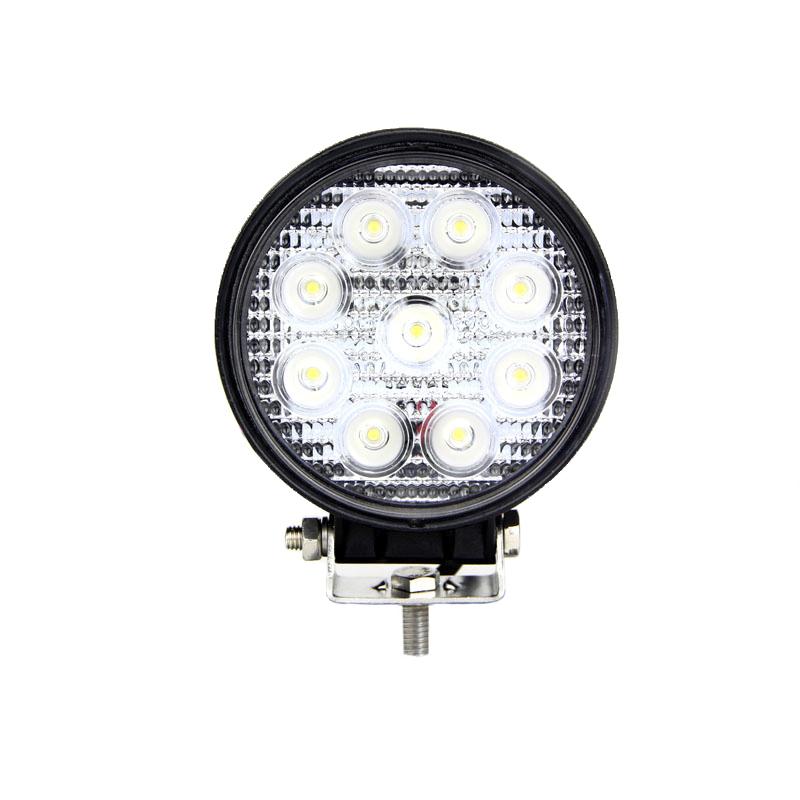 round led work light 4 inch 27 watt tuff led lights. Black Bedroom Furniture Sets. Home Design Ideas