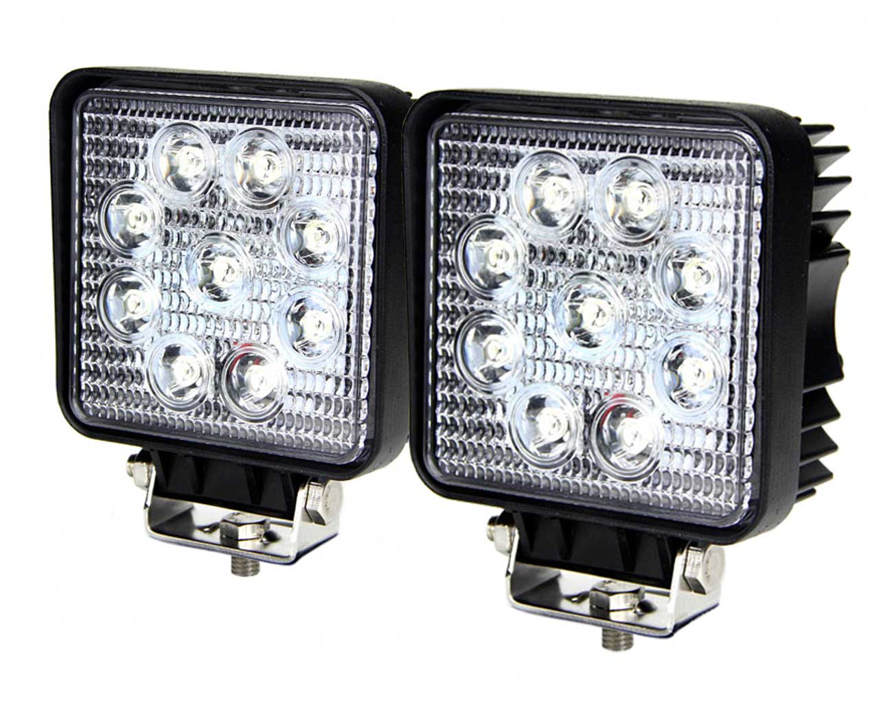 lighting automotive base pair country square inch kit rough cree rou p led lights