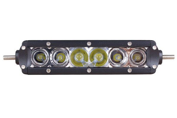 Slimline single row led light bar 9 inch 30 watt combo tuff slim9in30w22 mozeypictures Choice Image